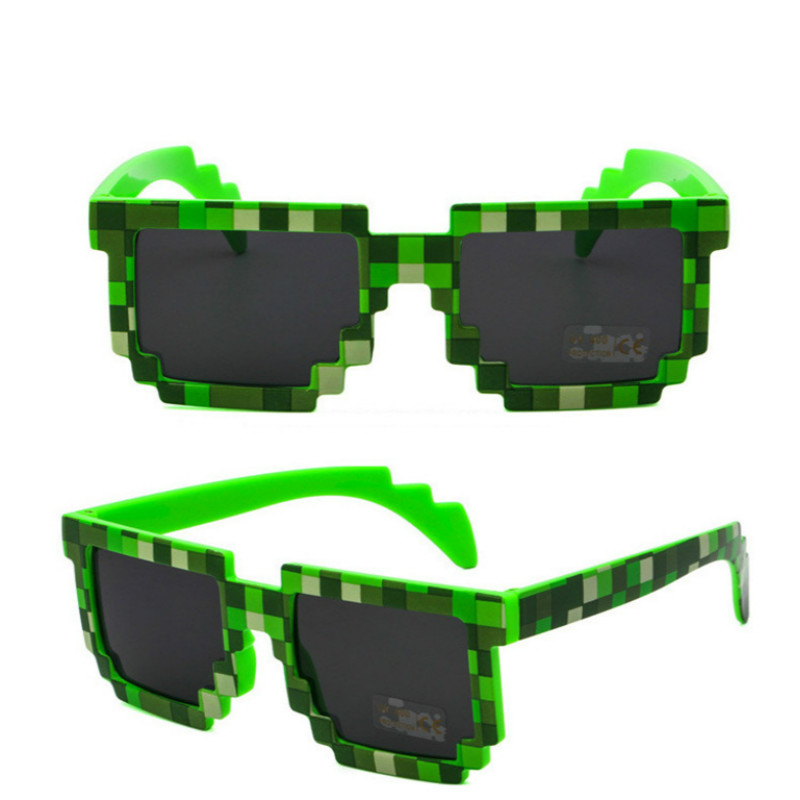 5 Color! Fashion Sunglasses Kids Cos Play Action Game Toys Square Glasses With EVA Case Gifts For Children