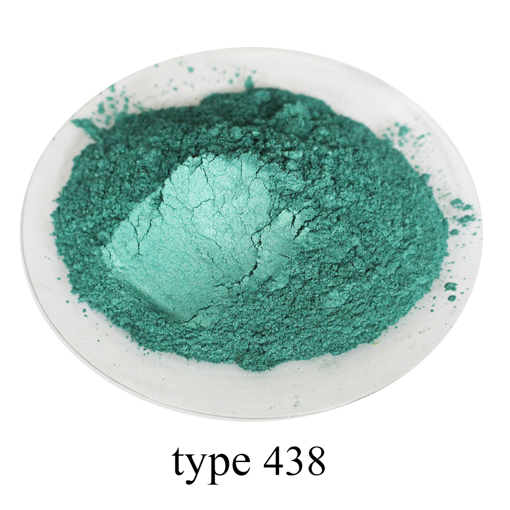 #438 Dark Green Pearl Powder Pigment Acrylic Paint In Craft Art Automotive Painting Soap Dye Colorant Mica Powder Pigment 50g