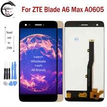 "5.5 ""جديد LCD ل ZTE بليد A6 ماكس LCD A0605 شاشة الكريستال السائل شاشة اللمس الاستشعار محول الأرقام الجمعية استبدال ل ZTE A6max العرض"