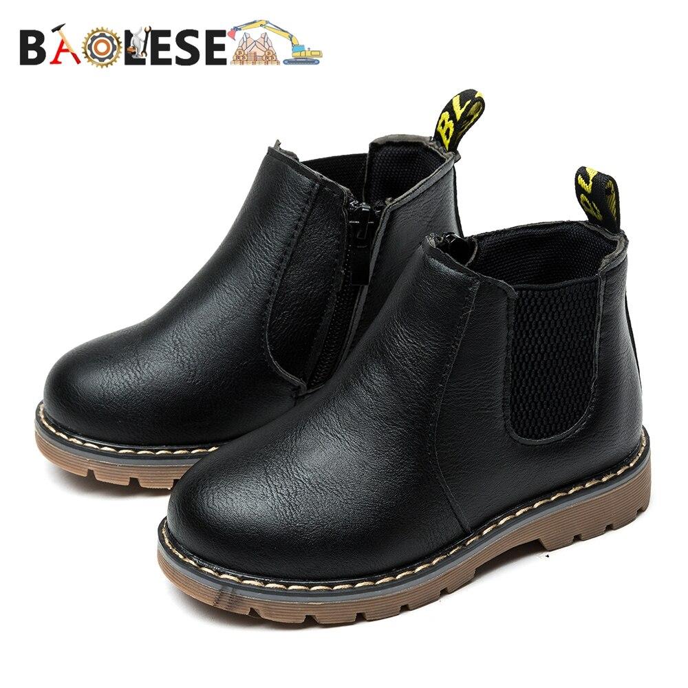 BAOLESEM Kids Snow Boots Child Ankle Boots Children Shoes Warming Fur Lightweight Child Snow Shoes Watertight Anti-skid Winter