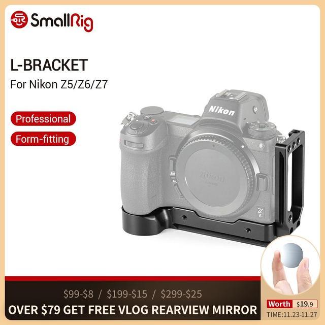 SmallRig l bracket Plate do aparatu Nikon z5 /Z6 / Z7 arca swiss Standard L płyta montażowa talerzyk na pieczywo i płyta bazowa 2258