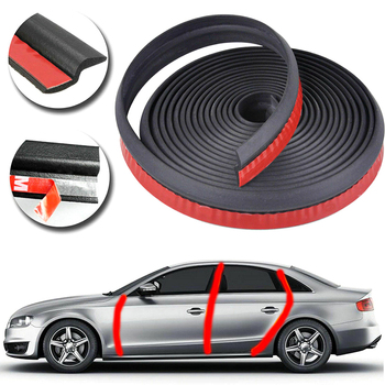 1PC 1/4/6M Car Door Sealing Strip Z type Door Seal Car Door Weatherstrip Sound Auto EPDM Rubber Edging Trim Noise Insulation image
