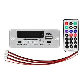 DC 5V 2*3W Amplifier Bluetooth 5.0 MP3 Player Decoder Board 5V  Car FM Radio Module Support FM TF USB AUX Handsfree Call Record bluetooth 5 0 mp3 decoder decoding board module 5 v 12v car usb mp3 player wma wav tf card slot usb fm remote board module