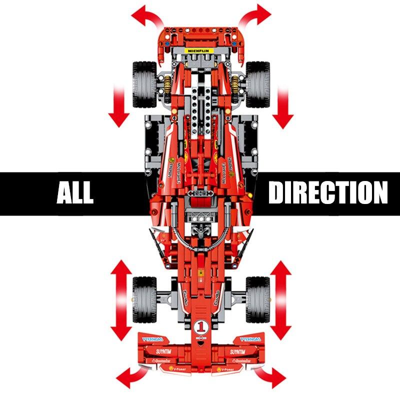 Nuovo MOC RC di Potenza del Motore Funzione di Auto Da Corsa Fit Legoings Technic Modello di Controllo Remoto Blocchi di Costruzione di Mattoni Giocattolo Regali per Bambini-in Blocchi da Giocattoli e hobby su  Gruppo 2