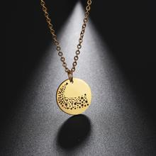 Teamer Galaxy Star Moon Necklace Custom Photo Necklaces for Women Stainless Steel Wish Magic Jewerly Friendship Gifts