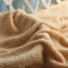 Roupas de cordeiro de veludo 100*160cm, roupas de algodão e veludo para cordeiro, tecido super macio de pelúcia, artesanal, boneca quente de costura luva do forro do animal de estimação