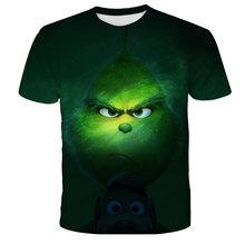2021 New 3d Printed T-shirt Movie Green Grinch T-shirt Top Fashion Cute Animal Pattern Men And Women Fashion Clothing T-shirt