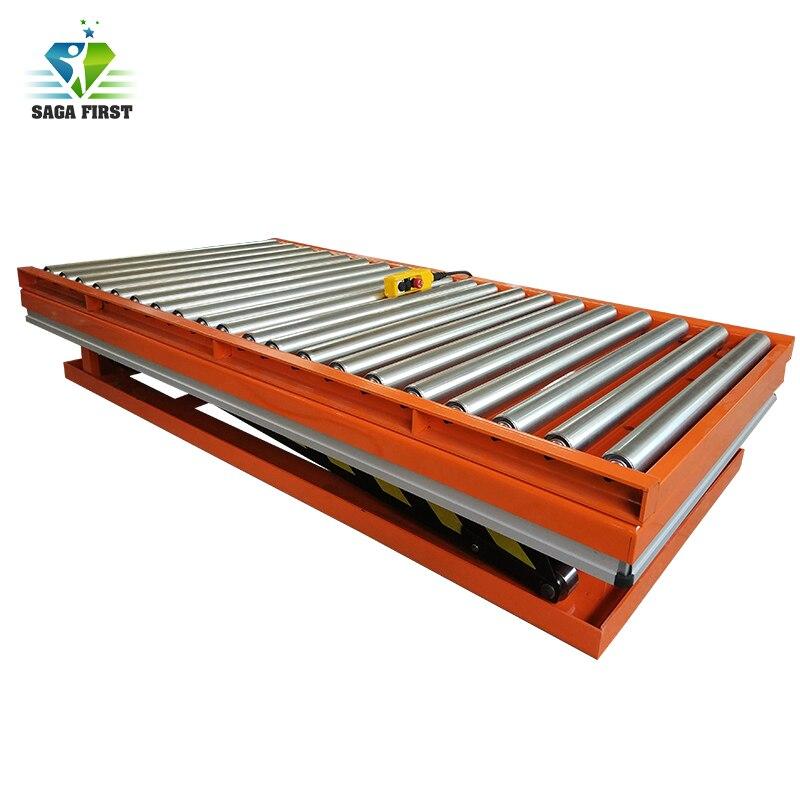 Factory Use Fixed Scissor Lift Roller Hydraulic Platform
