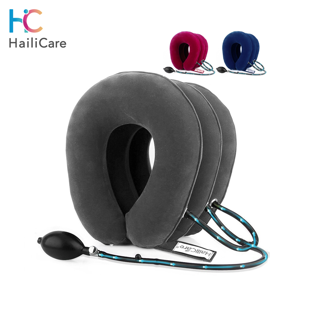 Neck Massage Inflatable Air Cervical Neck Traction Neck Shoulder Pain Relief Neck Muscle Relax Cervical Pillow Massager Brace(China)