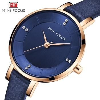 цена на MINI FOCUS Women Casual Watches Luxury Leather Strap Quartz Watch Ladies Analog Creative Watch Top Brand Relogio Feminino Clock