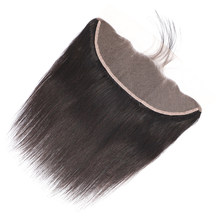 Great Grace Straight Swiss Lace Frontal Closure Remy Brazilian Human Hair 13X4 Lace Frontal Pre Plucked With Baby Hair