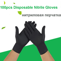 Fsup 100 個使い捨てニトリル手袋作業手袋食品調理用手袋キッチンクリーニングユニバーサル家庭の庭美容