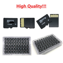 Высокое качество! 100 шт./лот, 64 Мб, 128 Мб, 256 Мб, 512 МБ, карта памяти трансфлэш памяти, Micro карта для сотового телефона