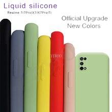 For OPPO realme 7 pro Case Liquid Silicone Case Shockproof Bumper Case for Realme realmy realmi 7 7 Pro Realme 7 7i X7 X7 Pro