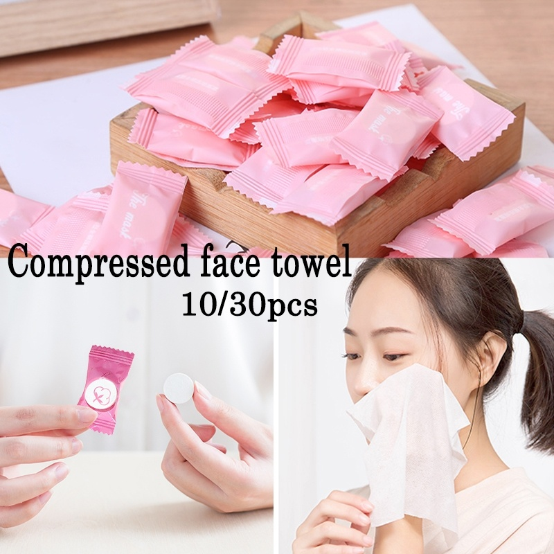 Tour Disposable Pure Cotton Compressed Portable Travel Face Towel Water Wet Wipe Washcloth Napkin Outdoor Moistened Tissues