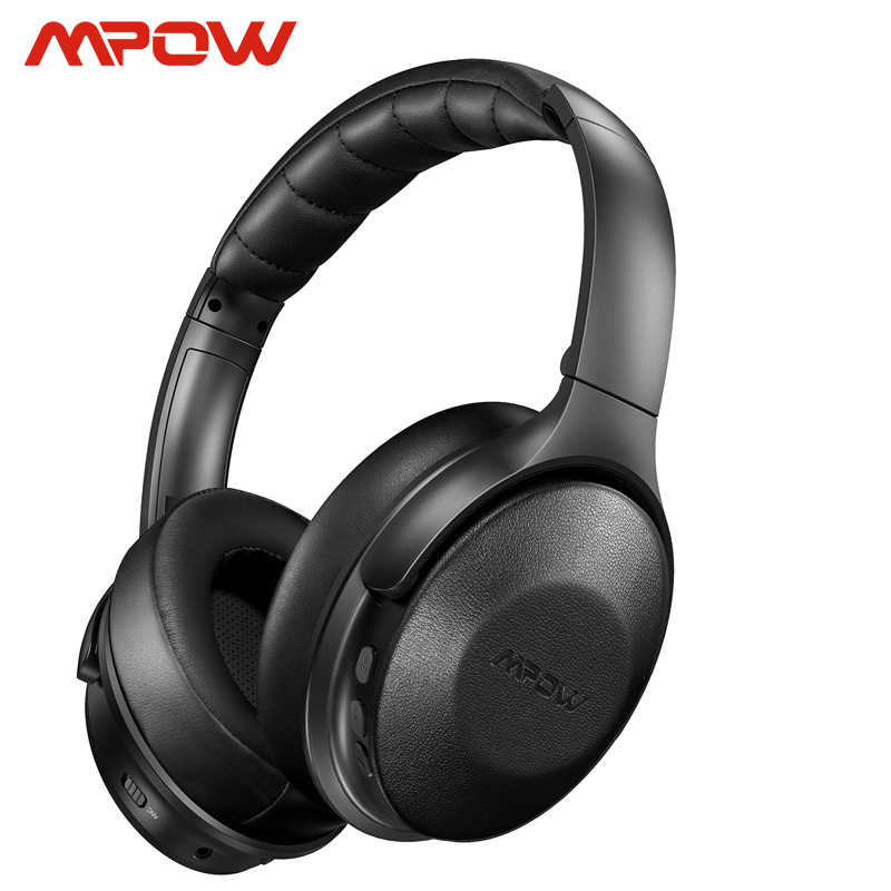 Hi-Fi Sound Deep Bass Bluetooth Headphones Over Ear Noise Cancelling Headphones Quick Charge 30Hrs Playtime Wireless Headphones with CVC 6.0 Mic 2019 Upgrade for TV//PC//Cellphone//Travel//Work Mpow