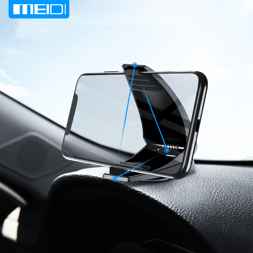 MEIDI Rotate Phone Holder Car GPS Stand Mounts Adjustable Dashboard Holder For IPhone X 11 Plus Galaxy S10 Xiaomi P40