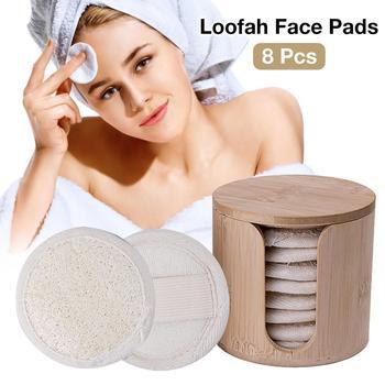 8 Piece Facial Washer Sponge Natural Loofah Plant Fiber Soft Exfoliating Soap Shower Gel Foams Makeup Face Cleansing Brush фото