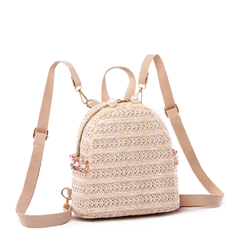 2019 New Style Weaving Straw Bag Waterproof Shoulder WOMEN'S Bag Travel Mini STUDENT'S Backpack