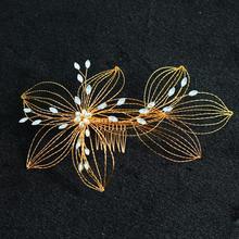 SLBRIDAL Handmade Clear Opal Crystal Rhinestones Wedding Hair Comb Bridal Headpieces Hair Accessories Bridesmaids Women Jewelry