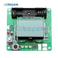 12864 LCD 디스플레이 ATmega328 트랜지스터 테스터 다이오드 3 극 커패시턴스 ESR 미터/MOS/PNP/NPN M328 다기능 미터