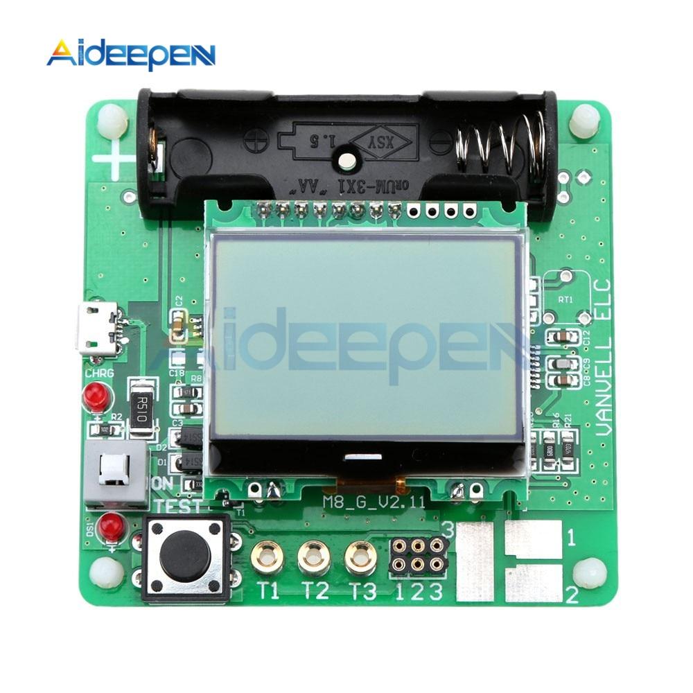 12864 LCD Display ATmega328 Transistor Tester Diode Triode Capacitance ESR Meter/MOS/PNP/NPN M328 Multifunction Meter With Case