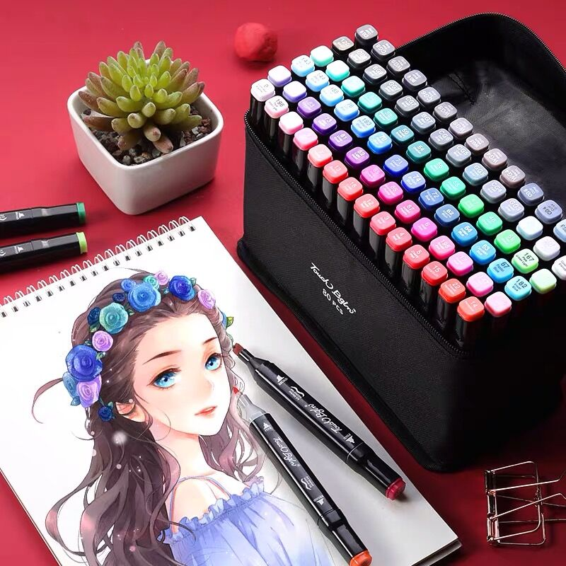 2020 Sharkbang 30/40/60/80/168 Colors Double Headed Touch Marker Pen Graffiti Drawing Art Sketch Painting Manga Markers Pens
