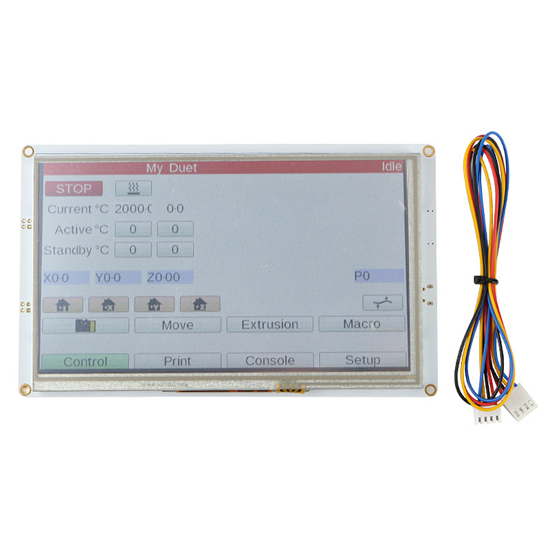 Clone 7Inch PanelDue 7I Integrated Paneldue Colour Press Screen Controllers for DuetWifi Duet 2 Ethernet image