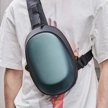 샤오미 Mijia TAJEZZO 아치 beborn 다면체 PU 배낭 가방 방수 다채로운 레저 스포츠 가슴 팩 가방 여행 캠핑