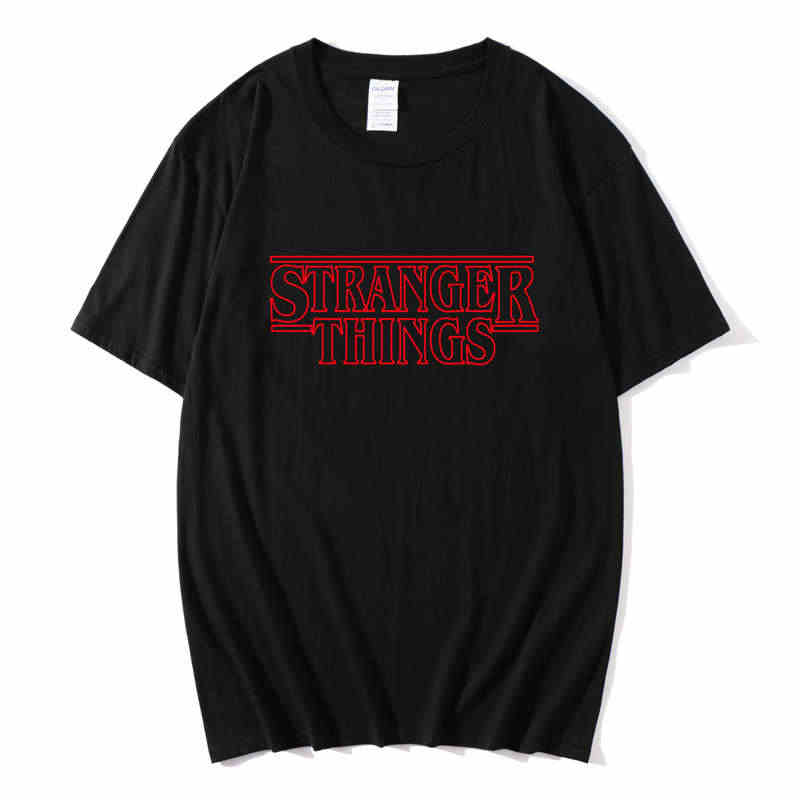 2020 Stranger Things Inspired Top Shop Unisex hombres y mujeres TV Horror nueva camiseta letra impresa algodón moda camiseta y parte superior