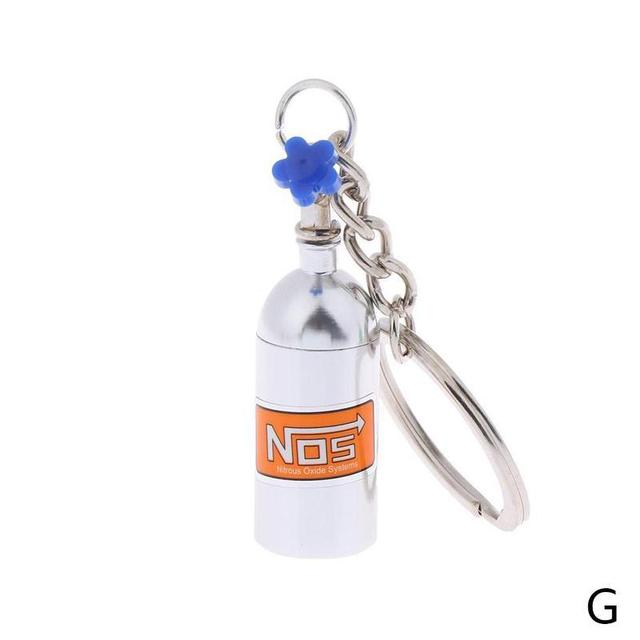 NOS Decorative Cylinder Keyring Car Keychain
