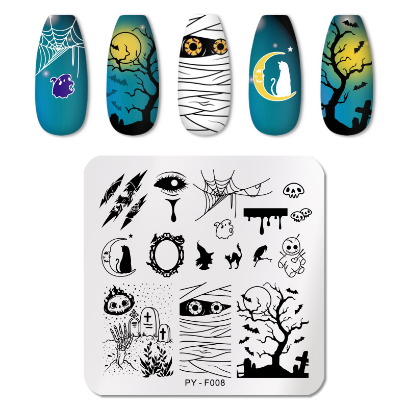 PICT YOU 12*6cm Nail Art Templates Stamping Plate Design Flower Animal Glass Temperature Lace Stamp Templates Plates Image 77