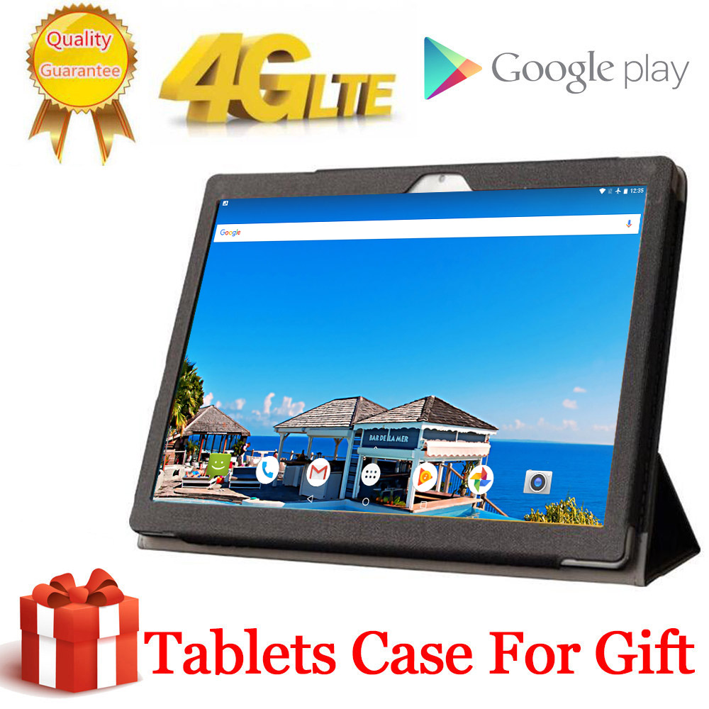 2020 Free Gift Case Tabletr 2560X1600 4G LTE 10.1 Inch 2.5D Tablet Pc 10 Deca Core MTK6797 8GB RAM 128GB ROM Android 9.0 MT6797