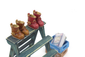 Ob11 baby shoes small cloth Blythes shoes ● retro middle boots ● lati medium cloth ob24 holala