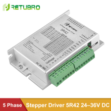 RETUBRO Stepping Driver 5R42 5-Fase 24-36V DC Supply Nema 17 Stappenmotor Driver 0.2- 2.2A