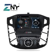 """8 """"אנדרואיד 10 רכב סטריאו GPS עבור 2011 2012 2013 2014 פוקוס בדש 1 דין אוטומטי רדיו DVD נגן WiFi אודיו וידאו Rearview מצלמה"""