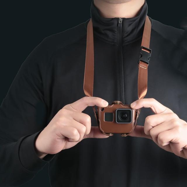 Schutzhülle für Gopro Hero 7 6 Black Edition PU Leder Tasche Fall Schutz für Go Pro Hero 7 6 5 Action Kamera Zubehör