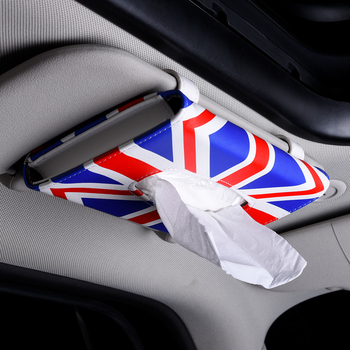 BMW ミニクーパーポータブル車のサンバイザーのティッシュボックス紙ナプキン革ボックスホルダーかけ型ユニバーサル自動車の付属品