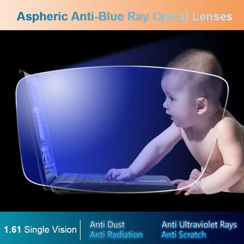 1,61 Асферические оптические линзы с защитой от синего излучения, очки по рецепту, линзы для зрения, оправа для очков