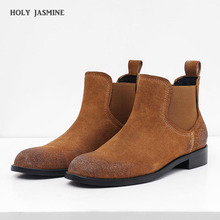 2020 New Hot Sale Real Cow Leather Suede Ankle Boots Women Point Toe Kitten Heels Short Winter Cowboy Knight Woman
