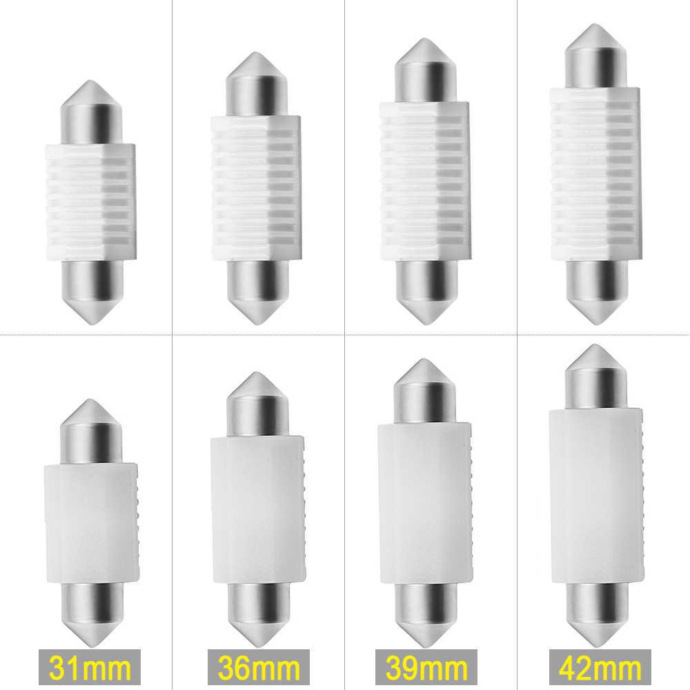 2pcs C5W מנורת 36mm לבן רכב מספר הנורה 12V עבור פולקסווגן פאסאט B5 B6 3c גולף 3 4 5 6 פולו ג 'טה GTI גולף לוחית רישוי אור