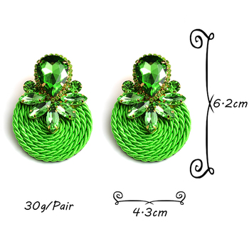 Colorful Crystal Handmade Round Earrings  6