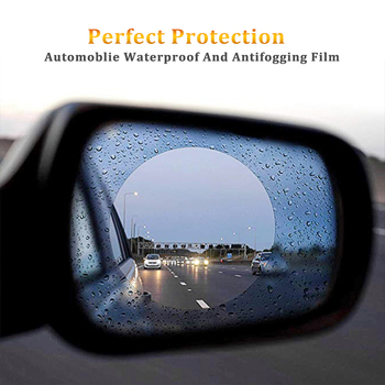 2pcs For BMW E46 E60 E90 E30 E92 E93 F30 E36 E39 F15 F16 E85 Rainproof Film Car Rearview Mirror Waterproof Anti-Fog Sticker image