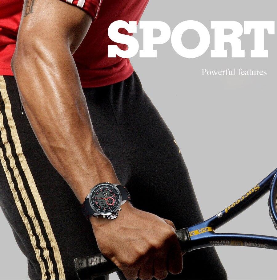 esportes relógios analógico relógio digital luminoso militar