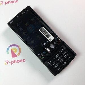 Image 4 - Оригинальный мобильный телефон NOKIA N95, 8 ГБ, 3G, 5 МП, Wi Fi, GPS, 2,8 дюйма, GSM разблокированный смартфон, русская и Арабская клавиатуры