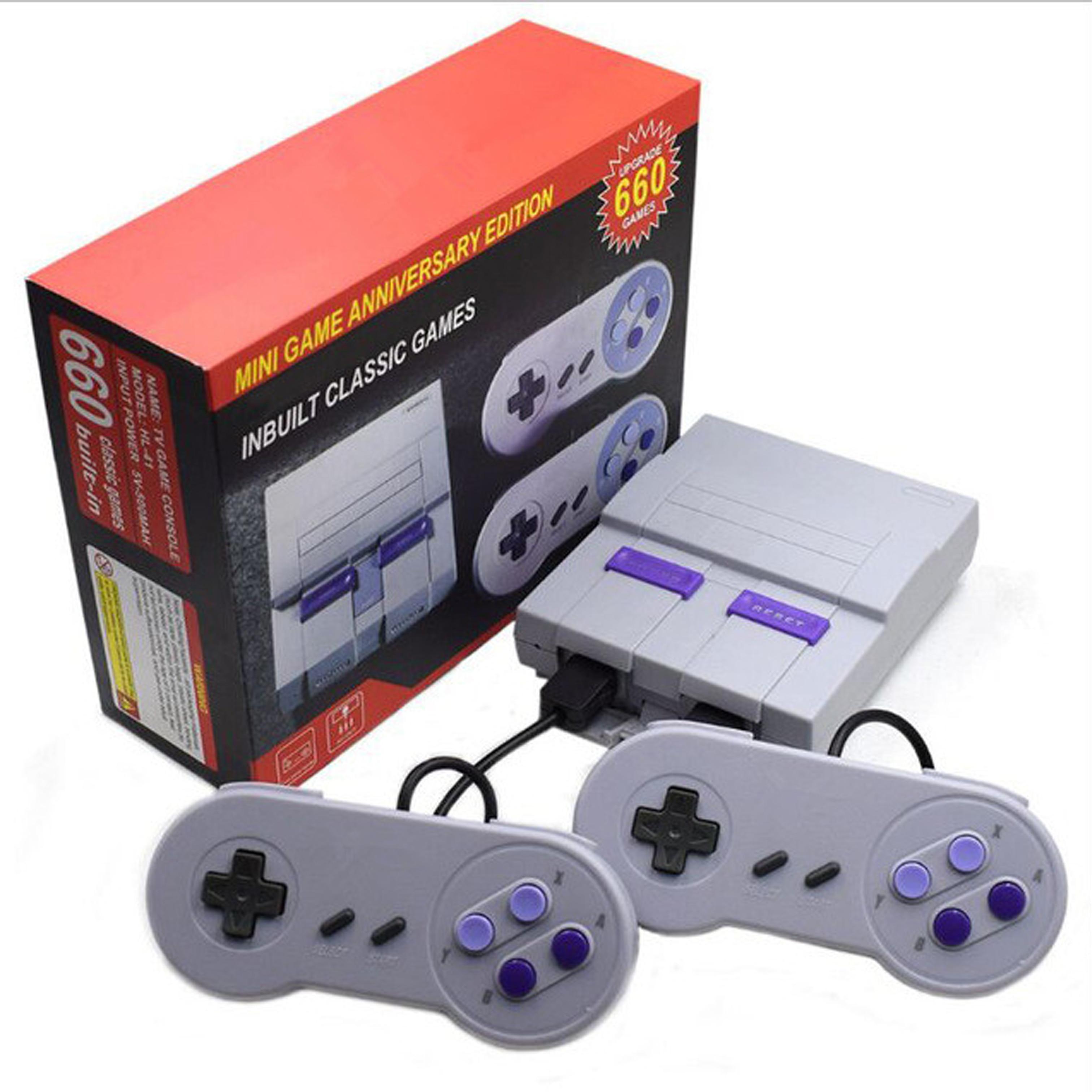 Console de Videogame para tv Presente de Aniversário do Menino Embutidos e de 660 Mini Clássica Retrô Bits Familiar Jogos tv 8