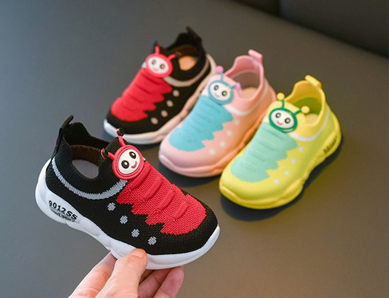 Girls Tennis Shoes Sneakers Boys Caterpillar Shoes Flyknit Kids Footwear Toddler Chaussure Zapato Casual SandQ Baby New