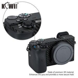 Image 5 - KIWIFOTOS المضادة للخدش كاميرا الجسم غطاء شريط الياف الكربون عدة الجلد لسوني A6600 3M ملصقا مع الغيار فيلم كاميرات حماية