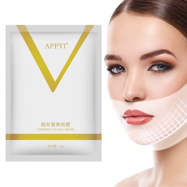 4D V Gezichtsmasker Chin Cheek Lift Dunne Face Lifting Masker Facial Afslanken Oor Opknoping Hydrogel Hals Slanker Huid care Tools Dubbele