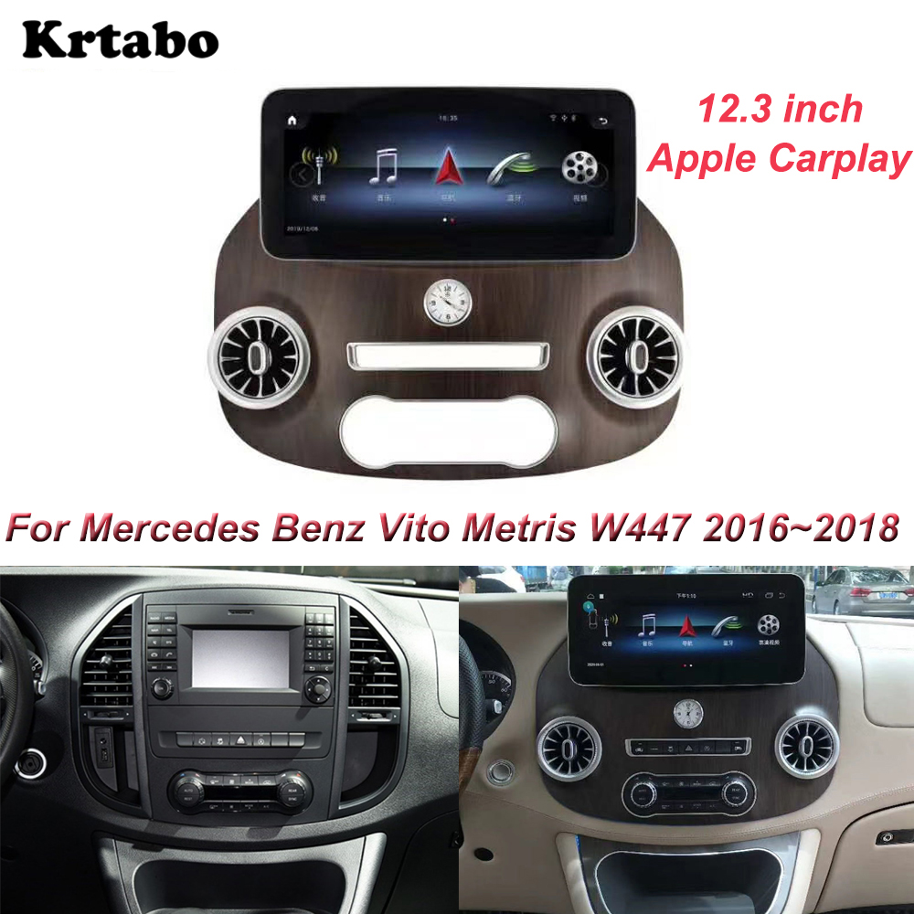 <font><b>Android</b></font> Multimedia Player For Mercedes Benz Vito Metris <font><b>W447</b></font> 2016~2018 12.3 inch Screen 9.0 system Car radio Apple Carplay image